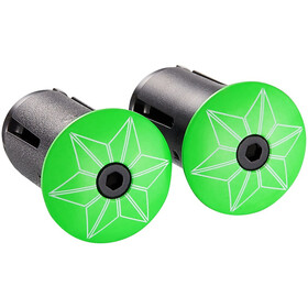 Supacaz Star Plugz Embouts de cintre, neon green powder-coated
